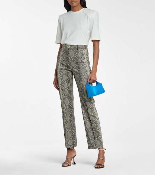 ROTATE BIRGER CHRISTENSEN - Robyn snake-effect faux leather pants - mytheresa.com