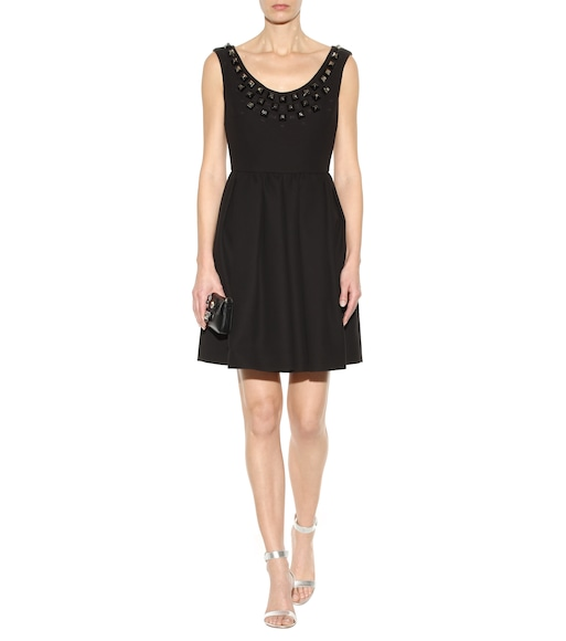 Fendi - Embellished cotton dress - mytheresa.com