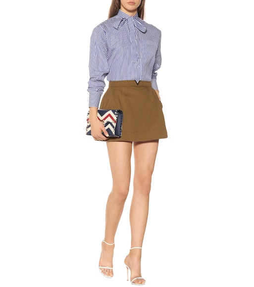 Valentino - Stretch cotton twill miniskirt - mytheresa.com