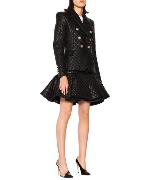 Balmain - Quilted leather blazer - mytheresa.com