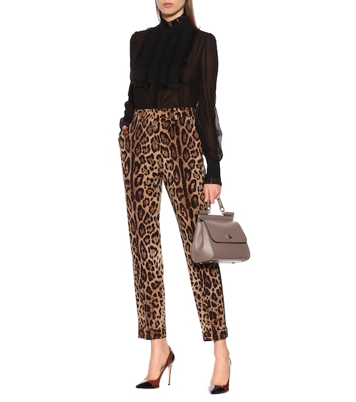 Dolce & Gabbana - Printed high-rise straight pants - mytheresa.com