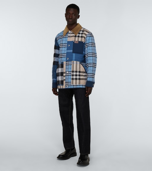 Burberry - Henham patchwork checked jacket - mytheresa.com