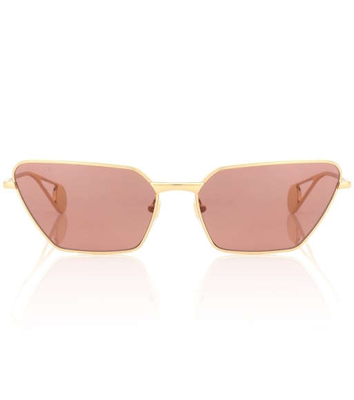 Gucci - Angular metal sunglasses - mytheresa.com