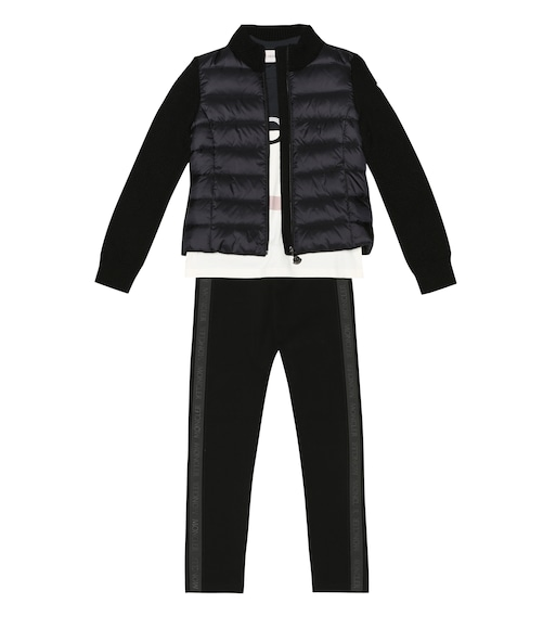 Moncler Enfant - Quilted down and wool jacket - mytheresa.com