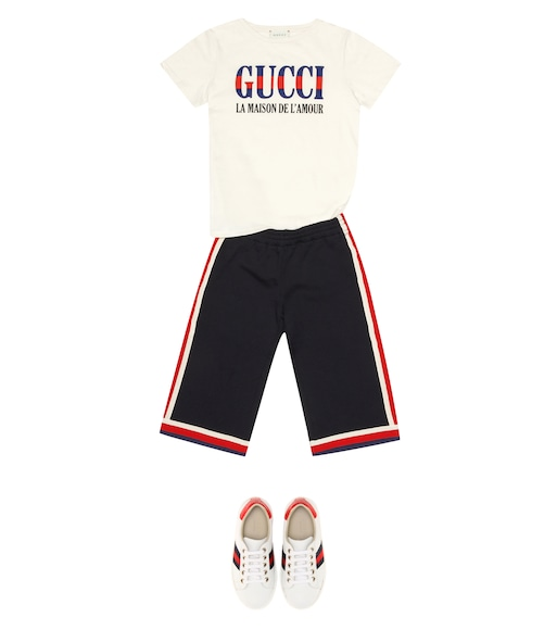 Gucci Kids - Cotton jersey trackpants - mytheresa.com