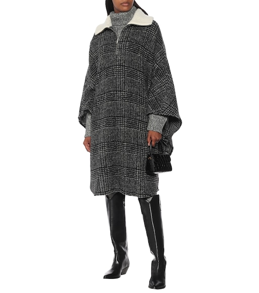 Isabel Marant, Étoile - Gabin checked wool-blend poncho - mytheresa.com