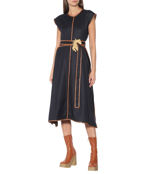 Stella McCartney - Eloise wool midi dress - mytheresa.com