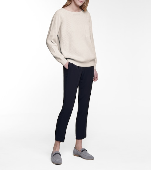 Brunello Cucinelli - High-rise slim pants - mytheresa.com