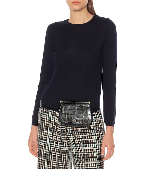 Max Mara - Jana croc-effect leather belt bag - mytheresa.com
