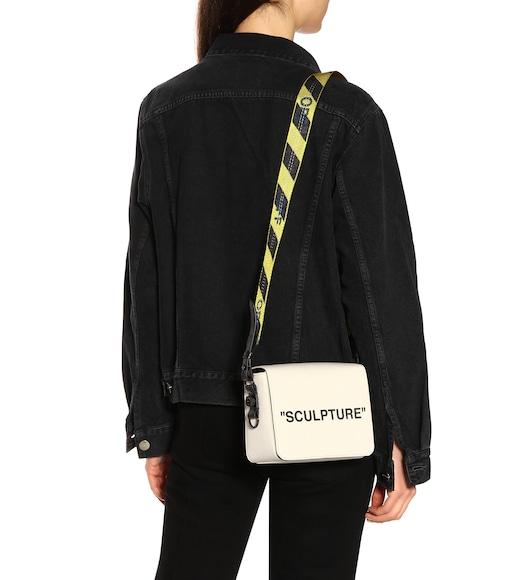 Off-White - Borsa Binder Clip in canvas e pelle - mytheresa.com