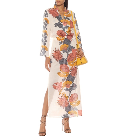 Tory Burch - Floral cotton kaftan - mytheresa.com