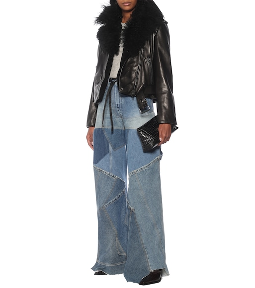 Tom Ford - Patchwork high-rise wide-leg jeans - mytheresa.com
