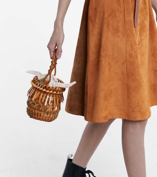 LOEWE - Bucket-Bag Fringes Small - mytheresa.com