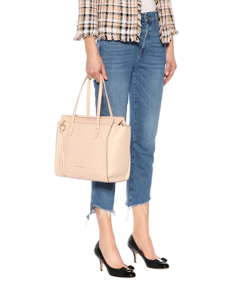 Salvatore Ferragamo - Large Amy leather tote - mytheresa.com