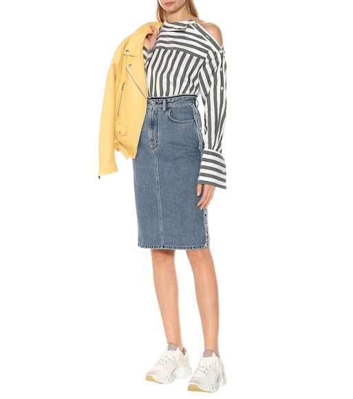 Acne Studios - Denim midi skirt - mytheresa.com