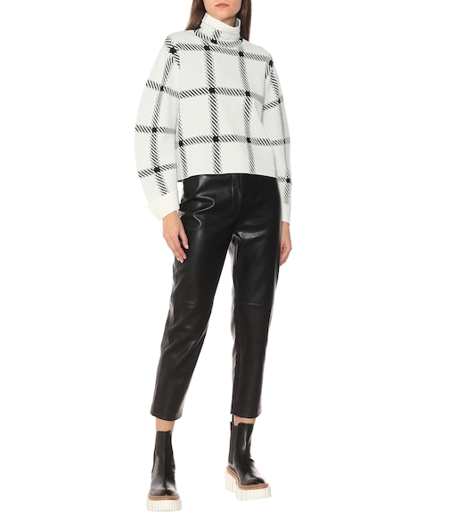 Stella McCartney - Checked funnel-neck sweater - mytheresa.com