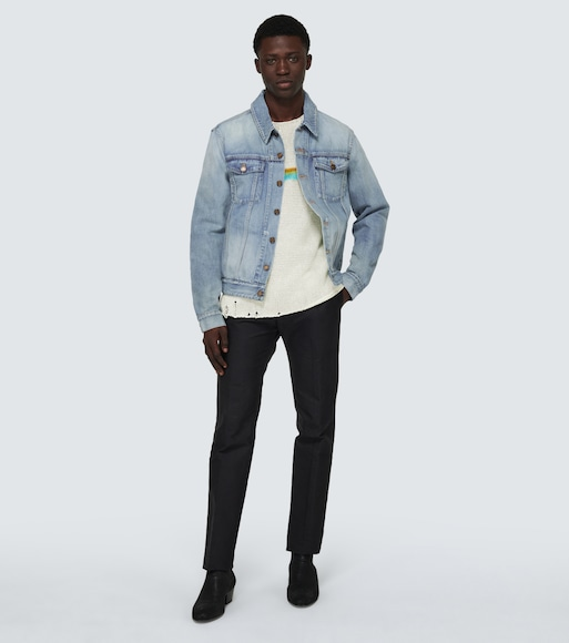 Saint Laurent - Destroyed denim jacket - mytheresa.com