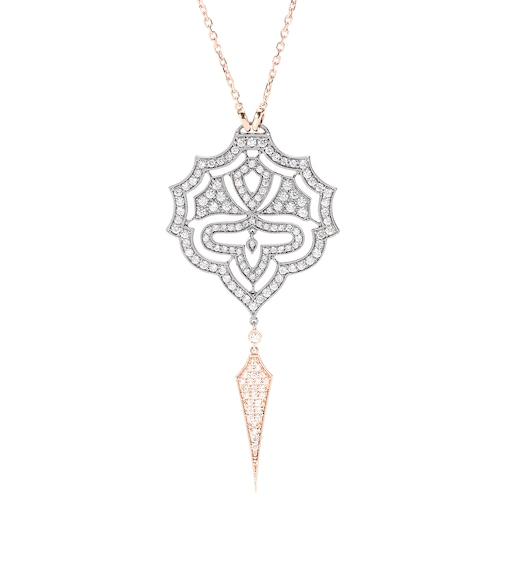 Stone Paris - Collana Passion in oro rosé 18kt e oro nero con diamanti bianchi - mytheresa.com
