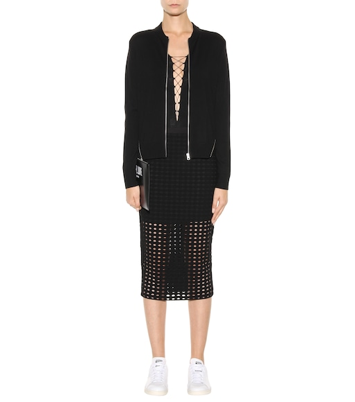 T by Alexander Wang - Lace-up jersey body - mytheresa.com
