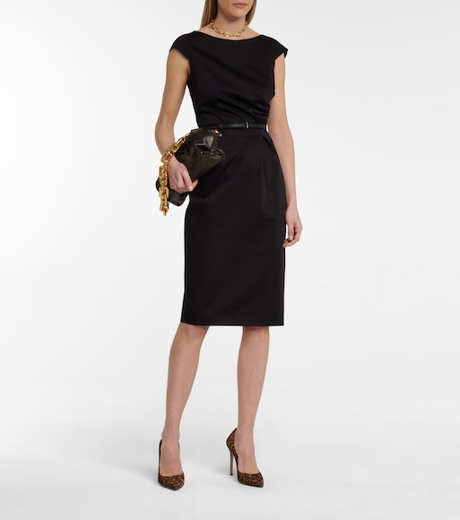 Max Mara - Zic belted cotton midi dress - mytheresa.com