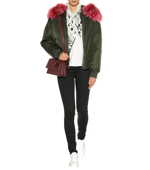 Mr & Mrs Italy - Fur-trimmed bomber jacket - mytheresa.com