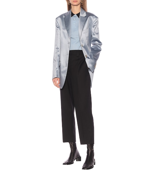 Acne Studios - Mid-rise cropped straight pants - mytheresa.com