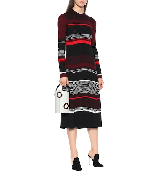 Proenza Schouler - Striped wool and silk-blend dress - mytheresa.com