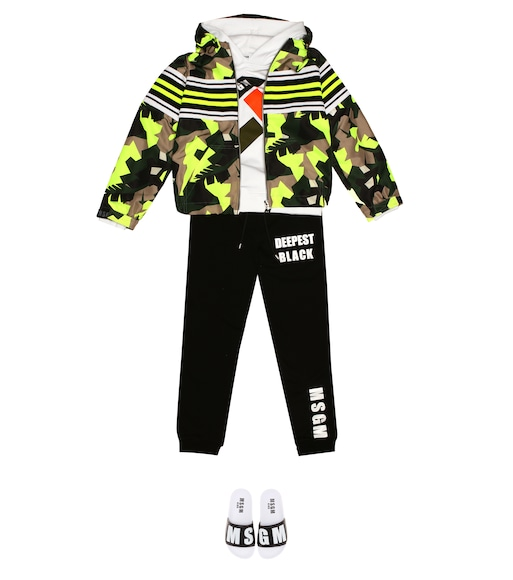 MSGM Kids - Hooded camo-printed jacket - mytheresa.com