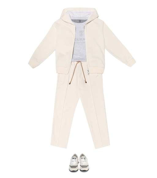 Brunello Cucinelli Kids - Cashmere and cotton hoodie - mytheresa.com