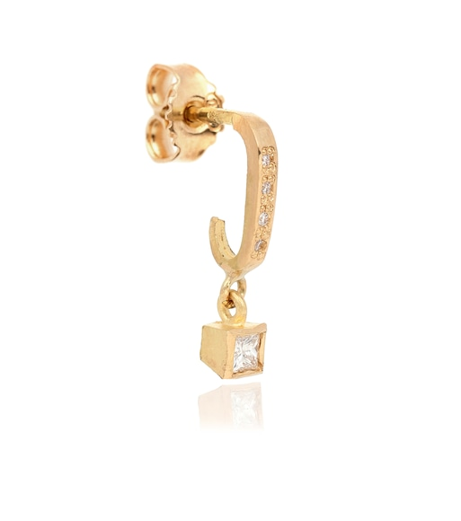 Elhanati - Roxy Classic Punk 18kt gold single earring with diamonds - mytheresa.com