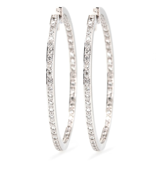 Cada - Hoop 18kt white gold earrings with white diamonds - mytheresa.com