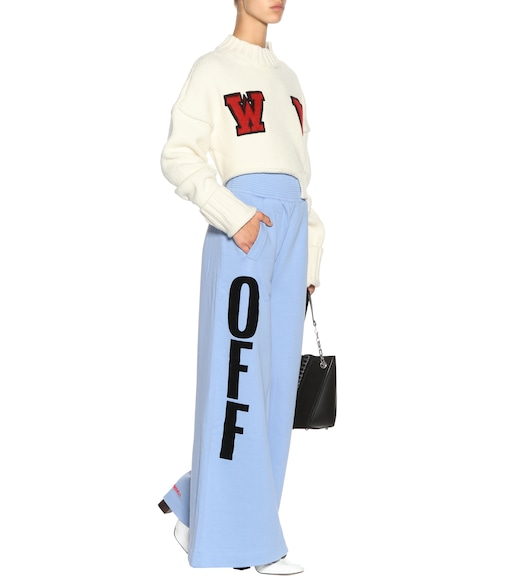 Off-White - Off Big cotton-jersey trousers - mytheresa.com