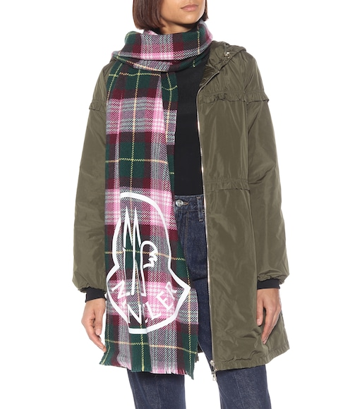 Moncler - Checked wool-blend scarf - mytheresa.com