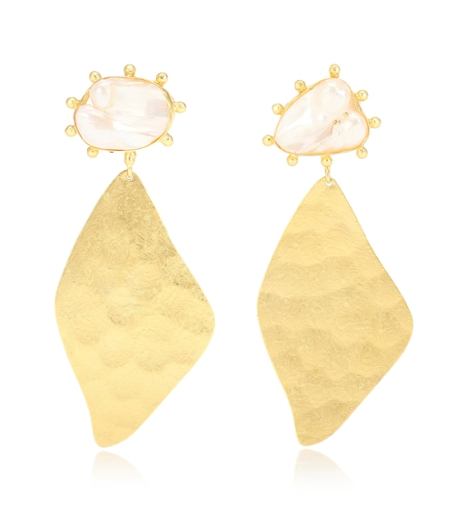 Peet Dullaert - Nahla 14kt and 24kt gold-plated earrings with pearls - mytheresa.com