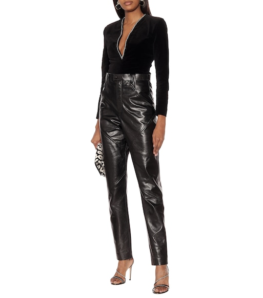 Isabel Marant - Xenia high-rise leather pants - mytheresa.com