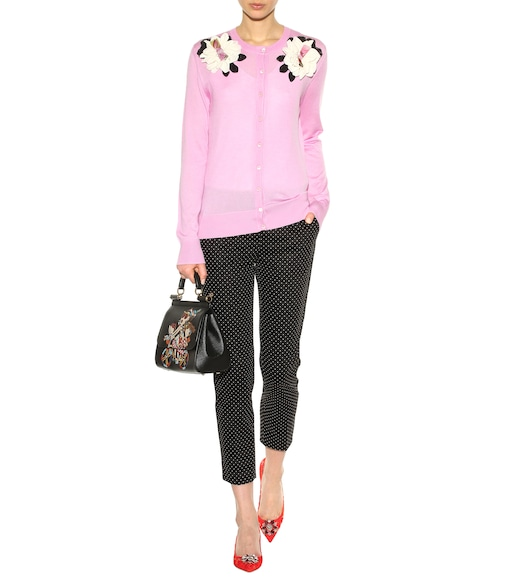 Dolce & Gabbana - Embellished cashmere and silk cardigan - mytheresa.com