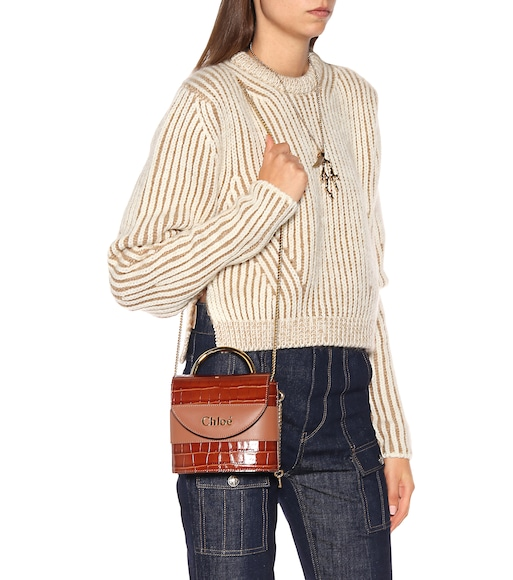 Chloé - Aby Lock Small leather shoulder bag - mytheresa.com