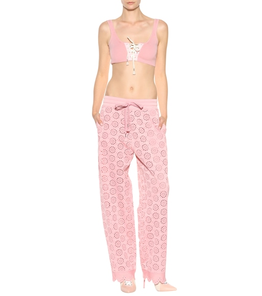 Fenty by Rihanna - Embroidered jersey trousers - mytheresa.com