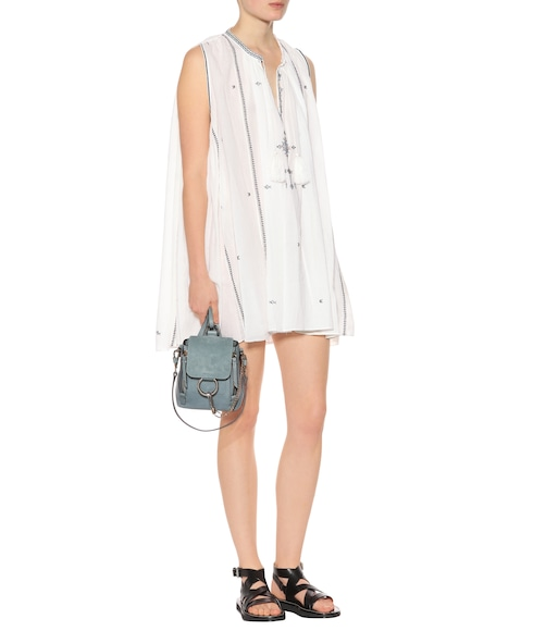 Embroidered cotton swing dress Isabel Marant eWC89