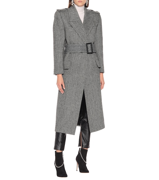 Saint Laurent - Wool-herringbone coat - mytheresa.com