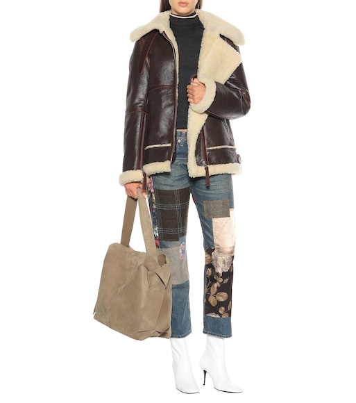 Acne Studios - Shearling and leather jacket - mytheresa.com