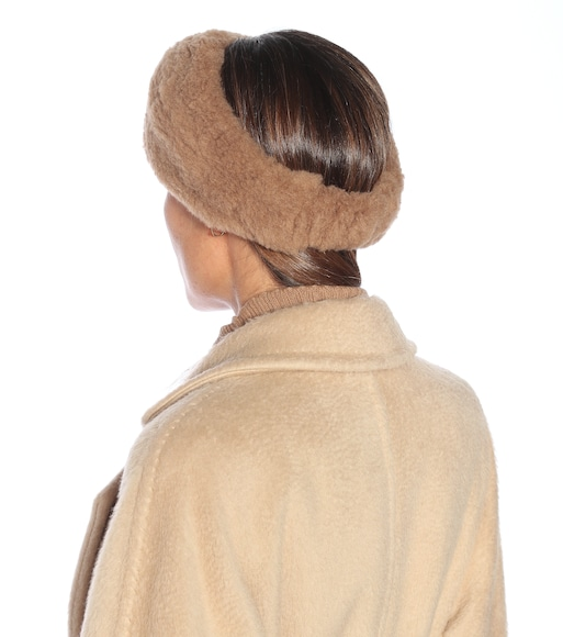 Max Mara - Ovidio camel wool and silk headband - mytheresa.com