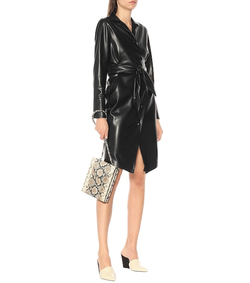 Nanushka - Ailsa faux leather wrap dress - mytheresa.com