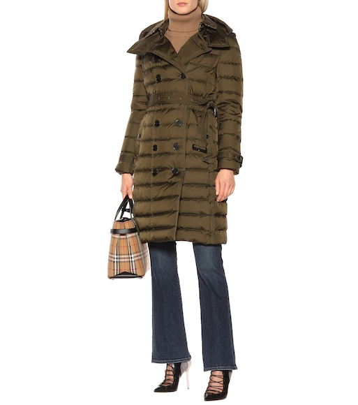 Burberry - Double-breasted down puffer coat - mytheresa.com