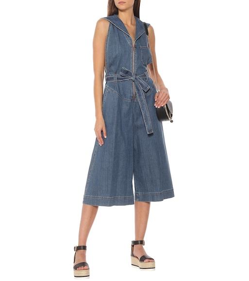 See By Chloé - Denim stretch-cotton jumpsuit - mytheresa.com