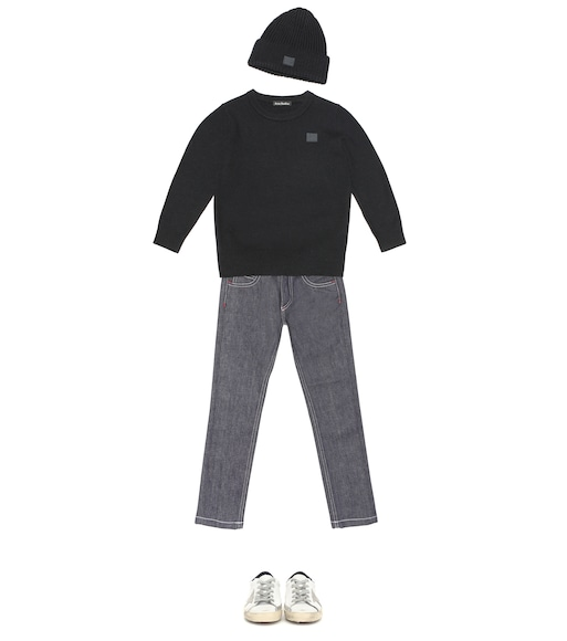 Acne Studios Kids - Mini Face wool sweater - mytheresa.com