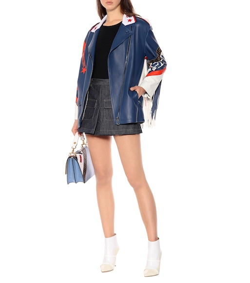 Fendi - FENDI MANIA leather jacket - mytheresa.com