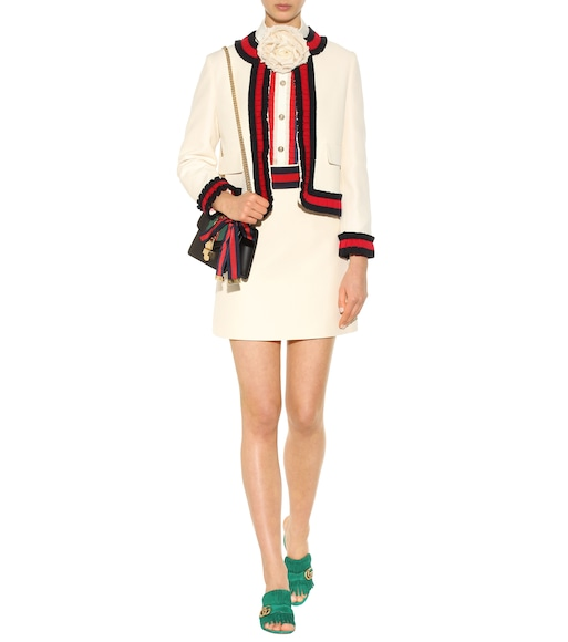 Gucci - Wool and silk miniskirt - mytheresa.com