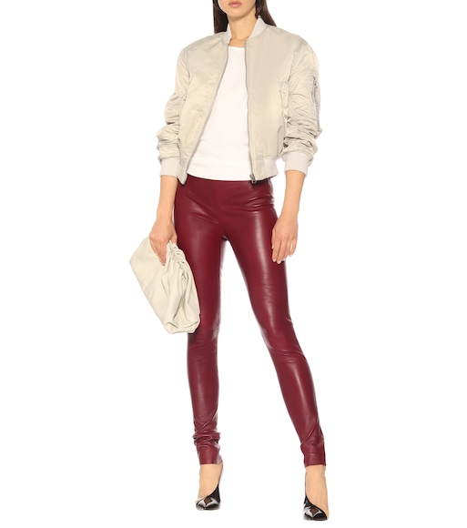 Joseph - Mid-rise leather leggings - mytheresa.com