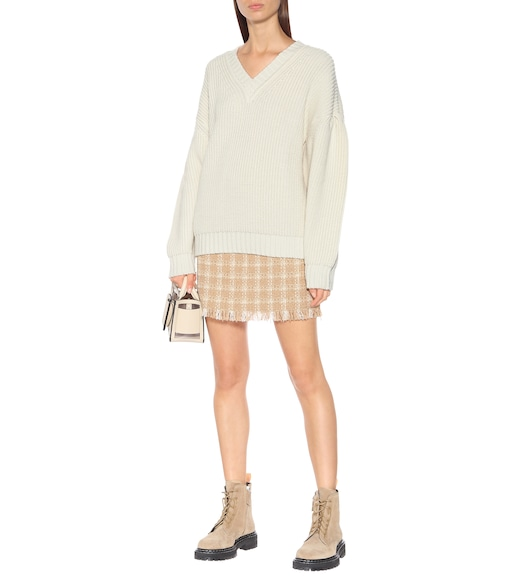 MSGM - Minigonna a quadretti in tweed - mytheresa.com
